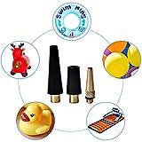 LSSH 16PCS Brass Presta and Schrader Valve Adapter, Presta to Schrader Adapter,Presta Valve Adaptor,Ball Pump Needles,Brass Bike Pump Adapters,Bike Tire Valve Adapters, Air Pump for Balloons