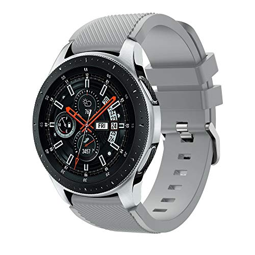 Price comparison product image Fashion Silicone Band Sport Replacement Strap For Samsung Galaxy Watch 46mm (Gray)