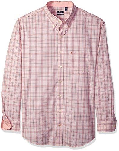 IZOD Men's IZOD Men's Premium Performance Natural Stretch Check Long Sleeve Shirt (Big & Tall and Tall Slim) ()