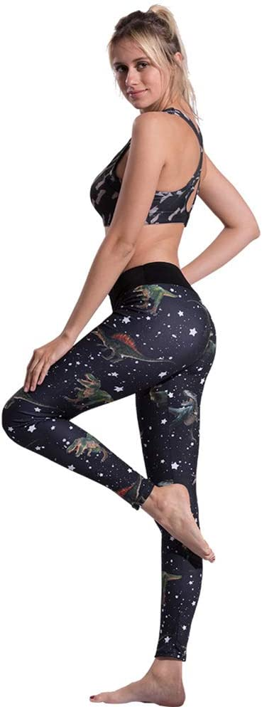 DAINAS Womens Short Yoga Pants High Waist