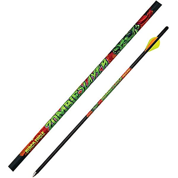 350 Black Eagle Archery Zombie Slayer Yellow Crested Arrows .003-6 Pack