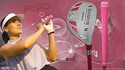 "Senior Ladies iDrive Pink Golf Club Hybrid Sand Wedge (SW) 55+ Years Womens Right Handed New Rescue Utility ""Senior"" Flex Club"