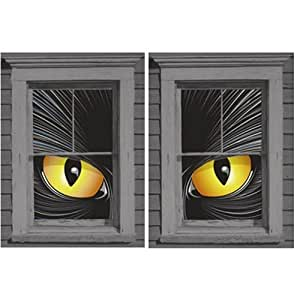 "Cat-rageous the Beast Translucent Window Decorations ""Double Window Design"""