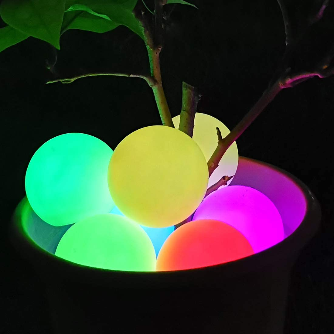 Floating Pool Light Ball, RGB Color Changing LED Bathtub Night Light IP68 Waterproof, Orb Light up Ball for Kids Gift, Wedding, Party, Hot Tub, Festival,Pond, Garden, Pool Decor Outdoor Indoor(2PCS)