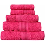 Catherine Lansfield Home 100% Cotton Bath Sheet, Hot Pink