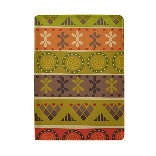 Africa Art Colorful Leather Passport Holder Cover Case for Travel Men and Women by AHOMY