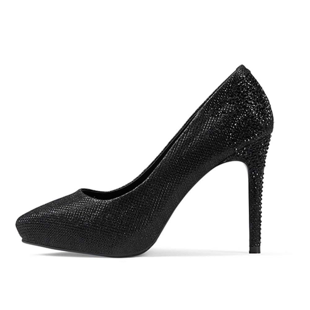 Black Comfortable and beautiful ladies sandals Sandals Summer Female PU Waterproofen Silver High Heels