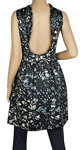 Badgley Skirted Floral Back Open Sleeveless Dress Mischka Mischka Green Badgley 6nvpw06dq