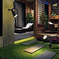 Yd&h Solar Spot Luces al Aire Libre Spotlight 1W 4 LED jardín Solar Luces para el Patio jardín (Cambio y Color Fijo) 2 Paquete,Greenlight: Amazon.es: Deportes y aire libre