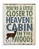 Cheap Stupell Home Décor Closer to Heaven in a Cabin Wall Plaque Art, 10 x 0.5 x 15, Proudly Made in USA