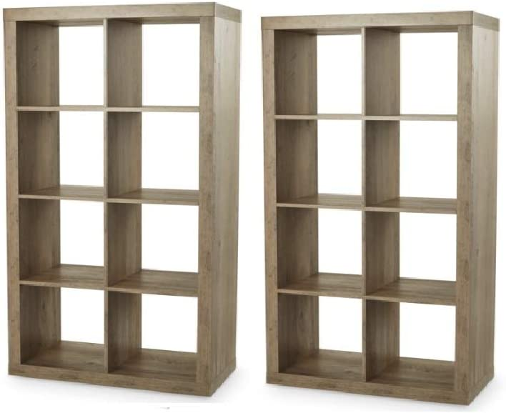 Better Homes and Gardens 8-Cube Organizer - (Rustic Gray, Set of 2)