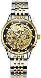 PASOY Womens Automatic Mechanical Watches Diamond Dila Sapphire Glass Waterproof Phoenix Skeleton Watch