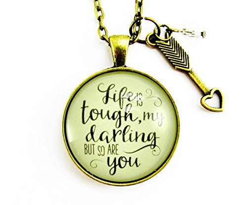 24-life-is-tough-my-darling-but-so-are-you-necklace-vintage-bronze-style-glass-pendant-arrow-heart-c