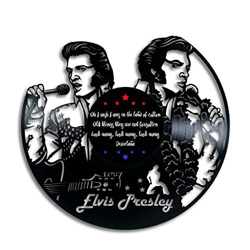 - Taniastore Elvis Presley Silhouette Design Vinyl Record Wall Clock Unique gifts for him her Gift Ideas for Mothers Day Father birthday anniversary wedding cute and original gifts for everybody