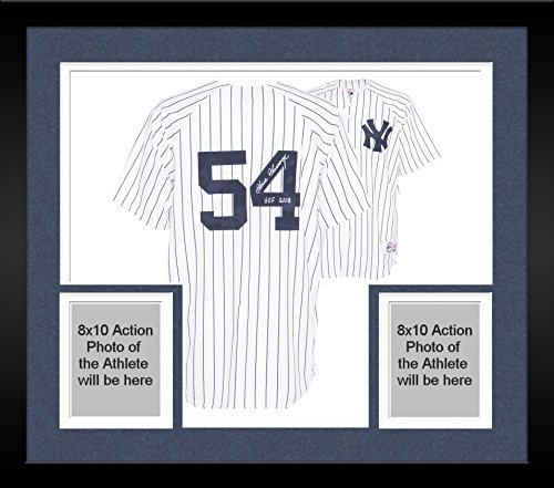 Framed Goose Gossage New York Yankees Autographed Majestic White Replica Pinstripe Jersey with HOF 2008