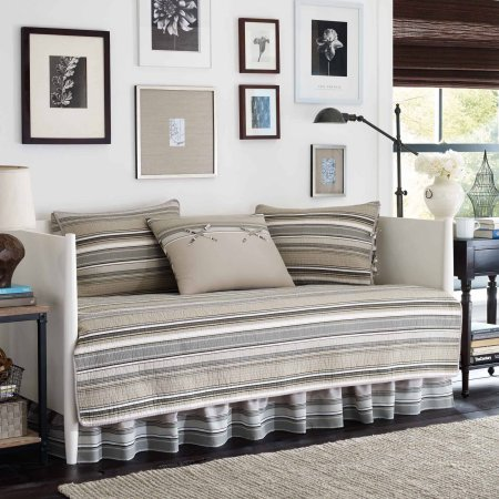 Stone Cottage Fresno 5-Piece Cotton Taupe/Brown Daybed Bedding Set Includes Comforter, Bedskirt, and Three Shams – Taupe