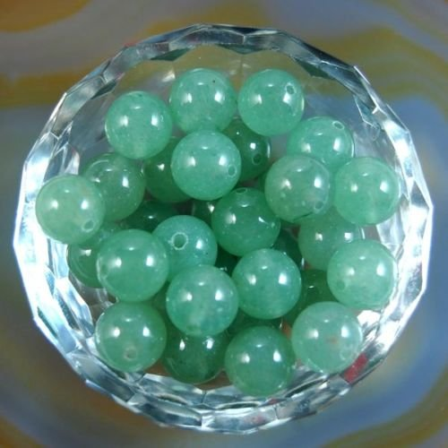 (AD Beads Natural Gemstone Round Spacer Loose Beads (4mm 100pcs, Green Aventurine))