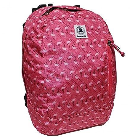 fe39347c27 Invicta zaino reversibile 33x44x20cm rosa fenicotteri + astuccio lip pencil  23x10x5,5cm combinazione scuola zaino double face nero e rosa schienale ...