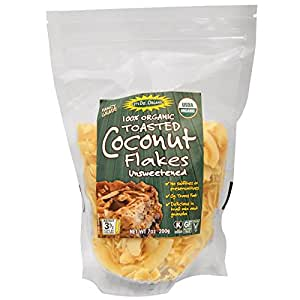 Edward & Sons, Let's Do Organic, 100% Organic Toasted Coconut Flakes Unsweetened, 7 oz pack of 2