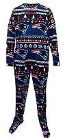 New England Patriots Ugly Sweater Guys Onesie Footie Pajama for men