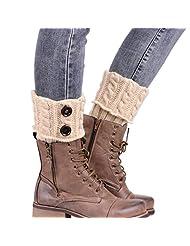 Towallmark Women Winter warm Knitting Socks Leg Warmers Boot Cover Keep Warm Socks