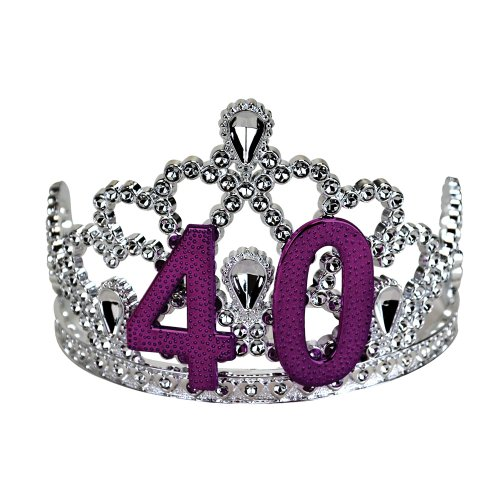Big Mouth Toys 40th Birthday Silver Tiara