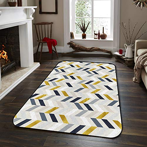 Fantasy Star Non-Slip Area Rugs Room Mat- Colorful Stripes Wallpaper Home Decor Floor Carpet for High Traffic Areas Modern Rug Kitchen Mats Living Room Pads, 2' x 3' -