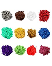 Mica Powder for Resin Set of 12 Colors Epoxy Pigment Powder for Candle, DIY Slime, Bath Bombs, Make up, Lip Gloss, Nail Art, Jewelry, Paint, Craft Projects & Soap Making Supplies