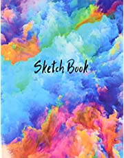 Sketch Book: Notebook for Drawing, Writing, Painting, Sketching or Doodling, 120 Pages, 8.5x11 (Premium Abstract Cover vol.4)