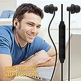 MAXROCK Sleep Earbuds, Ultra-soft Comfortable Noise Isolating Earplugs Workout Headphones In-ear Earphones w/ Mic & Volume Control - Perfect for Side Sleeper Air Travel, Meditation & Insomnia