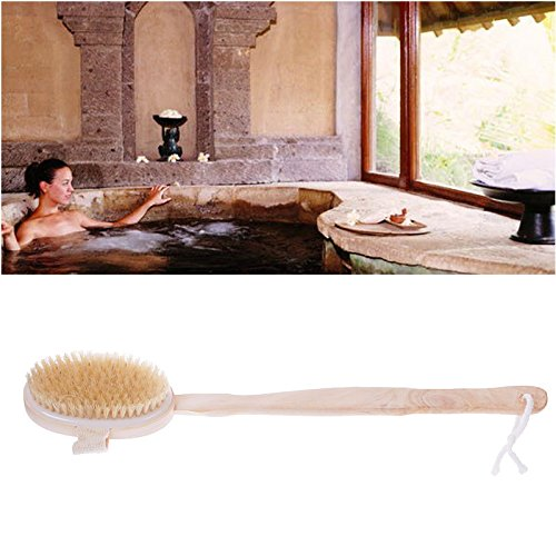 Raza Hot Sale Natural Long Massage Handle Wooden Body Brush Home Bath Shower Back Spa Tool
