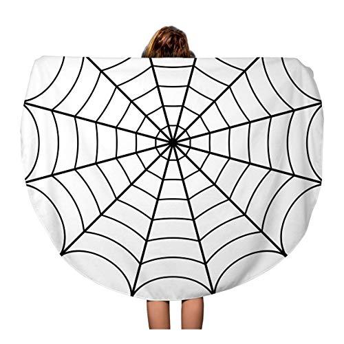 Pinbeam Beach Towel Spider of Cobweb Spiderweb Halloween Net Haloween Pattern Travel 60 inches Beach Blanket for $<!--$23.90-->