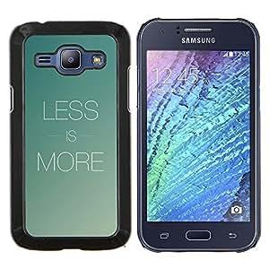LECELL--Funda protectora / Cubierta / Piel For Samsung Galaxy J1 J100 -- Menos es más --
