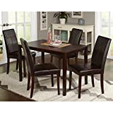 FurnitureMattressDirect- 5 Piece Dining Table Set with 4 Chairs