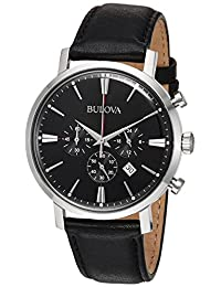 Bulova Mens 96B262 Dress Black Dial Watch