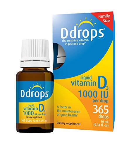 Ddrops 1000 IU Drops, 365 Count