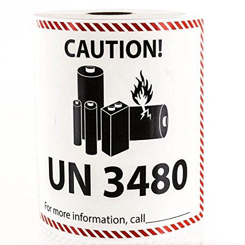 Label Batteries (UN 3480 Lithium Battery Handling Labels LV-UN3480)