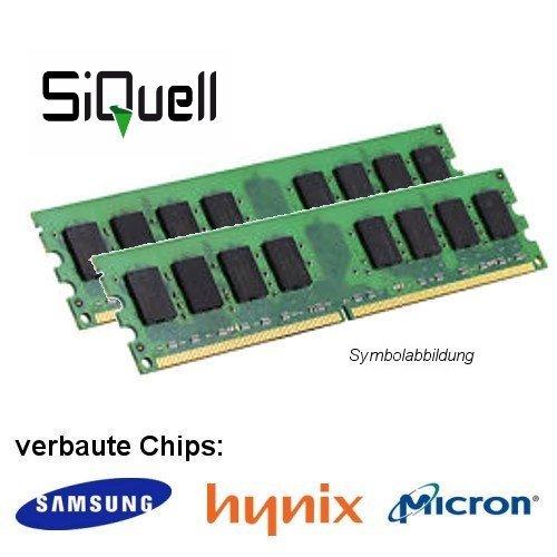 4GB (2 x 2GB) DDR2 800MHz (PC2 6400U) LO Dimm Computer PC Desktop Arbeitsspeicher RAM Memory Samsung Hynix Micron SiQuell® D2L0800-D2G-MJ3X2-FBA