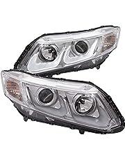 AnzoUSA Bar Style Projector Headlight for Honda Civic