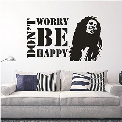 YOYOYU ART HOME DECOR Vinyl Wall Decals Dont Worry Be Happy BOB MARLEY Music