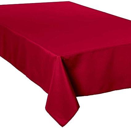 nappe anti tache rectangulaire rouge 150x300 cm
