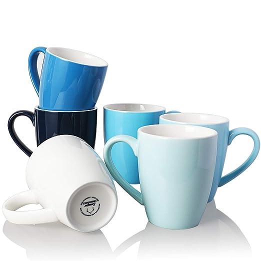 Sweejar 16 oz taza de porcelana, asa grande taza de bebida ...