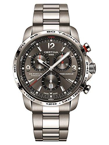 Certina DS Podium Big Size Chronograph Grey Dial Titanium Mens Watch C0016474408700