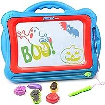 [Patrocinado] Magnético Tablero de dibujo, tomons viaje Doodle Sketch tablero dibujo juguete educativo para niños para dibujar en tableros de Magic Scribble con divertido sellos