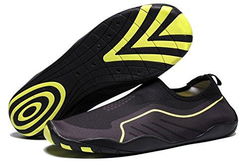 RENZER Wasserschuhe Leichte Schwimmhaut Aqua Socken Schuhe Slip-on für Strand Hellbraun