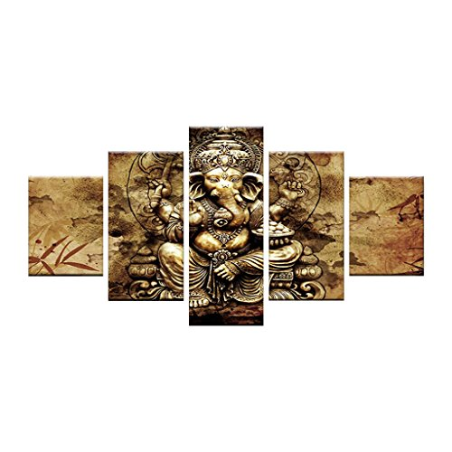 Canvas Framed Iii (MagiDeal Large Modern Oil Painting Abstract Art Large Modern Art Multiple Pictures Wall Art Canvas for Home Wall Decoration No Framed - #3 Gary Elephant S, as described)