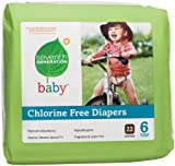 Seventh Generation Chlorine Free Baby Diapers, Stage 6 (Over 35 Lbs), 22 Count (Pack of 4)