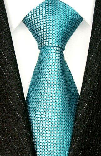 LORENZO CANA Italian 100/% Silk Tie Jacquard Woven Lightblue Turquoise 84404