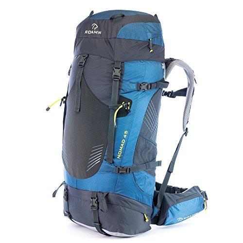 Roamm Nomad 45 Backpack – 45L Liter Internal Frame Pack – Best Bag for Camping, Hiking, Backpacking, and Travel – Men and Women