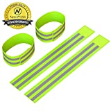 Kyпить Reflective Ankle Bands (4 Bands/2 Pairs) | High Visibility and Safety for Jogging/Cycling/Walking etc | Work as Wristbands, Armband, Leg Straps | Accessories for Sports/Running Gear на Amazon.com